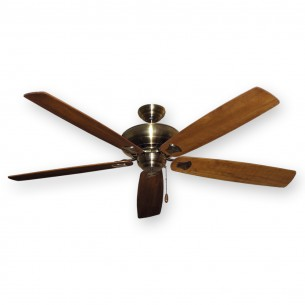 "Tiara 72"" Ceiling Fan Antique Brass - Oak Blades"