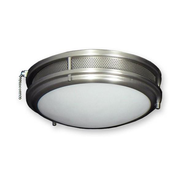 Vented low profile contemporary ceiling fan light kit standard sockets fl164ss low profile fan light kit satin steel aloadofball Image collections