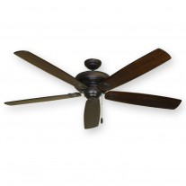 "Gulf Coast 72"" Tiara Large Ceiling Fan, Oiled Bronze - 4 Blade Finishes"