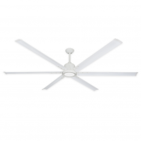 """84"""" Titan II by TroposAir - Large Industrial Ceiling Fan - Pure White Finish"""