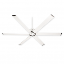"Large 96"" Hunter HFC-96 Ceiling Fan - Fresh White - Damp Rated - Model 59132"