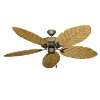"58"" 100 Series Raindance Ceiling Fan Antique Bronze - 5 Solid Wood Blade Finish Options"