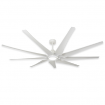 "TroposAir 82"" LIberator Ceiling Fan - Pure White w/ 18W LED Array Light"