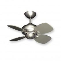 Mini Breeze Ceiling Fan w/ Small Satin Steel Blades