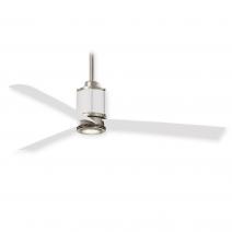 """54"""" Minka Aire Gear Ceiling Fan F736L-BS/WHF - Brushed Steel / Flat White"""