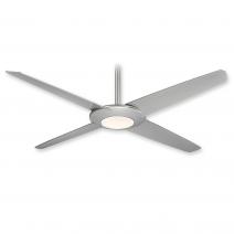 Minka Aire Pancake XL - LED Ceiling Fan - F739L-SL - Silver Finish