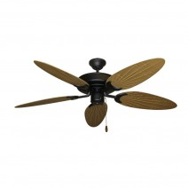 Bamboo Raindance Ceiling Fan - Walnut Blade (palm side shown)
