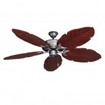 "58"" 100 Series Raindance Ceiling Fan Brushed Nickel - 5 Solid Wood Blade Finish Options"