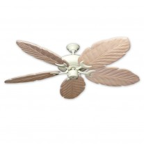 """58"""" 100 Series Raindance Ceiling Fan Antique White - 5 Solid Wood Blade Finish Options"""