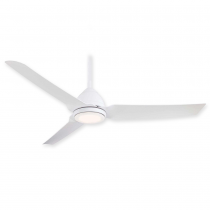 "54"" Java LED Ceiling Fan - F753L-WHF - Flat White"