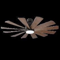 """60"""" Modern Forms Windflower Windmill Ceiling Fan - Oil Rubbed Bronze w/ Dark Walnut"""