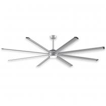 """96"""" Fanimation Stellar Ceiling Fan - MAD7998SLW - Silver Blades w/ Light"""