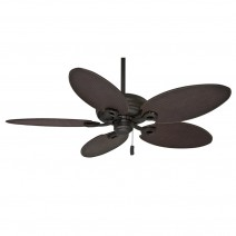 Charthouse Ceiling Fan Maiden Bronze 55010 - 99016 Plantation Rattan Dark Brown Blades