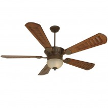 DC Epic Ceiling Fan w/ LK715 Light - Shown in Aged Bronze