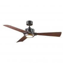 """56"""" Osprey Ceiling Fan - FR-W1817-56L-OB/DW by Modern Forms - Oil Rubbed Bronze w/ Dark Walnut Blades"""