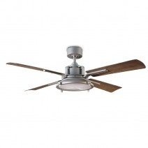 "56"" Nautilus Ceiling Fan - FR-W1818-56L-GHWG by Modern Forms - Graphite w/ Weathered Gray"