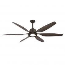 """66"""" Titan II Ceiling Fan - Oil Rubbed Bronze - Shown w/ LED Light (sold separately)"""