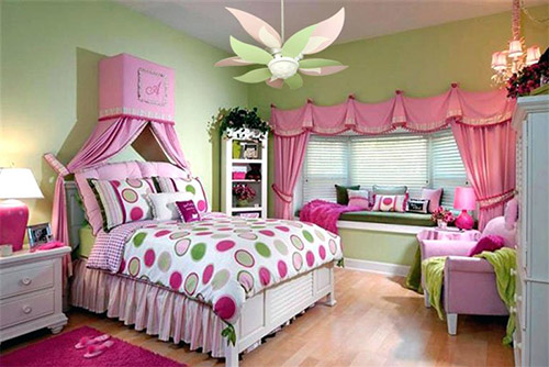Craftmade Bloom Ceiling Fan Pink and Green