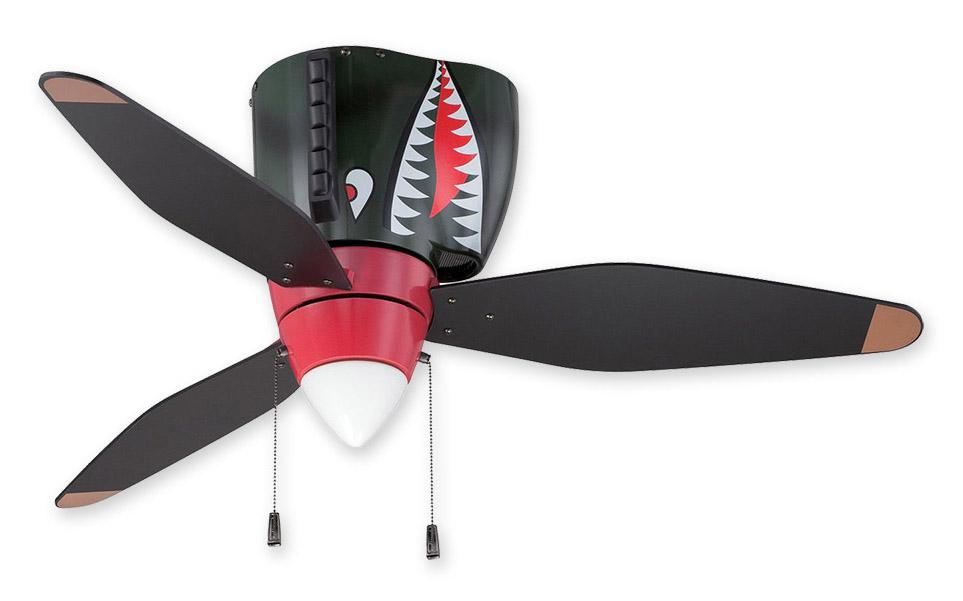 Airplane Ceiling Fan - Craftmade Warplanes Tiger Shark