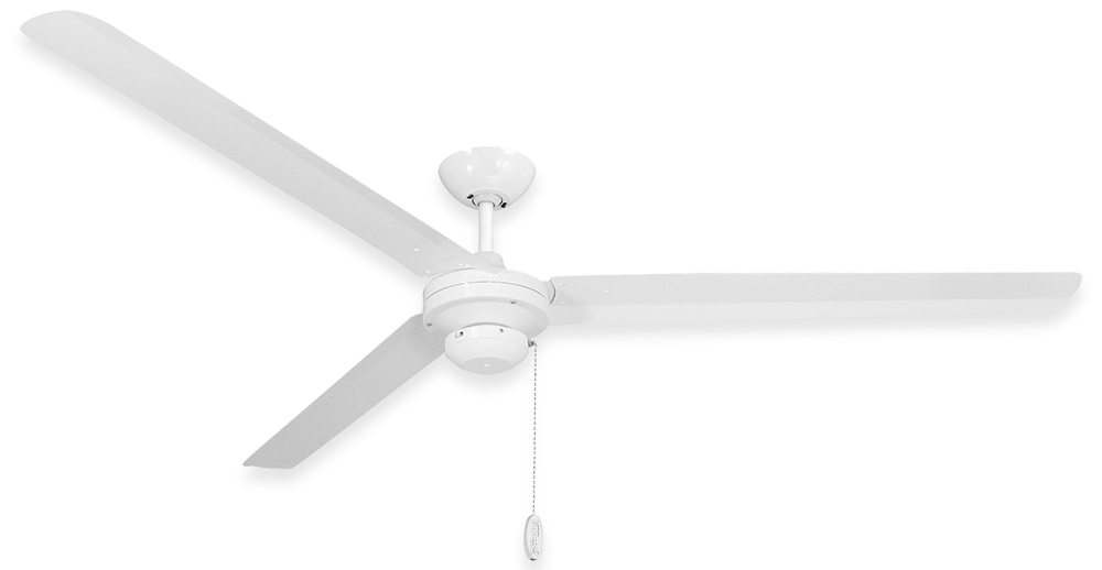 Pure White 72 inch TroposAir Tornado Ceiling Fan