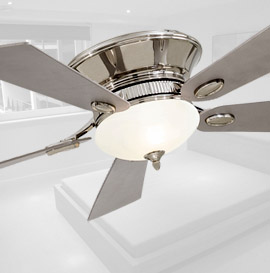 flush mount modern ceiling fans